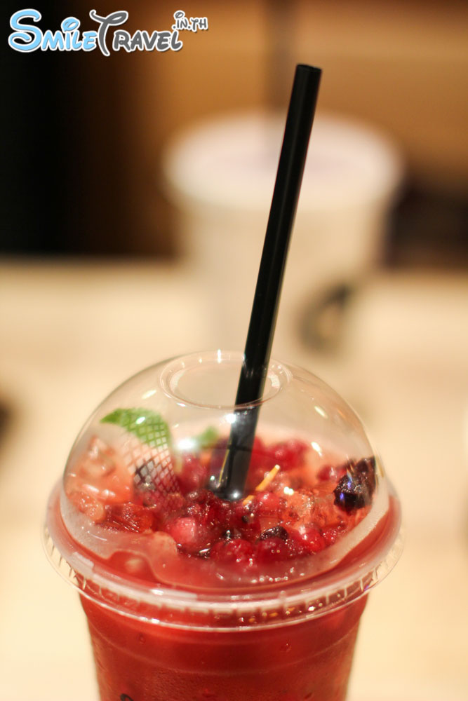 Fruit Tart Iced Tea with Berry Ice Cubes After You